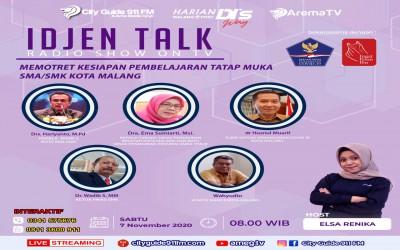 Potret Kesiapan Pembelajaran Tatap Muka SMA/SMK di Kota Malang, Kepala Sekolah dan Komite SMAN 2 Malang Jadi Narsum Idjen Talk