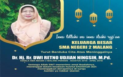 Selamat Jalan Dr. Hj. Rr. Dwi Retno Udjian Ningsih, M.Pd