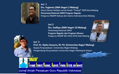 Drs. Sugianto, Salah Satu Juri dalam Lomba Artikel Guru yang digelar PGRI Kota Malang