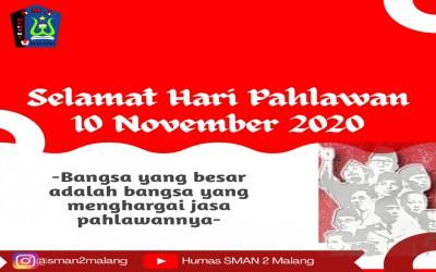 Selamat Hari Pahlawan 2020